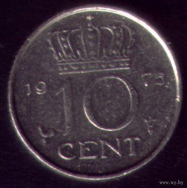 10 центов 1975 год Нидерланды