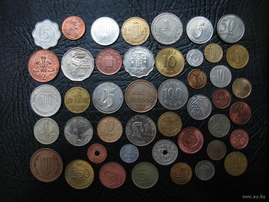 Коллекция - 50 монет более 30 стран 2000 года выпуска БЕЗ ПОВТОРОВ !!!