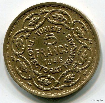 ТУНИС - 5 ФРАНКОВ 1946