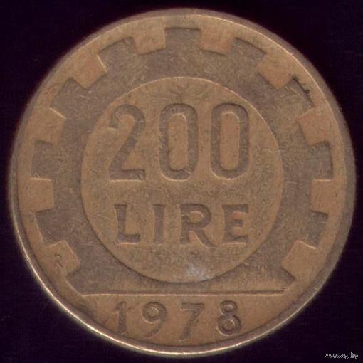 200 Лир 1978 год Италия