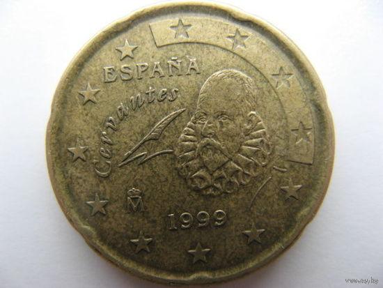 Испания 20 евроцентов 1999г.