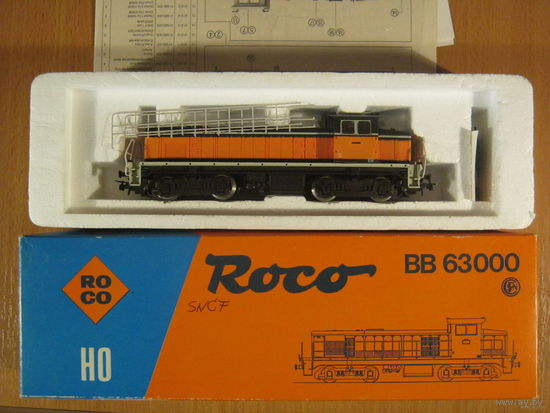 Тепловоз BВ 63000 Roco.Масштаб НО-1:87.