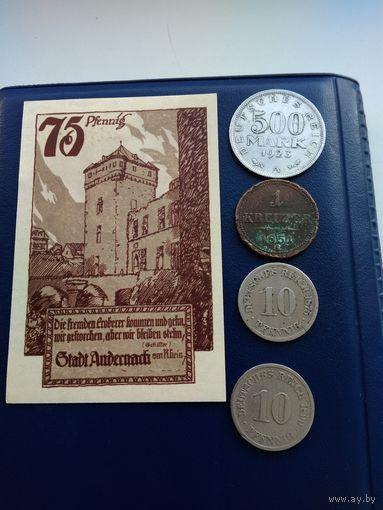 Отличный лот Германии с 1 рубля