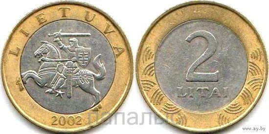 Литва 2 лита 2002