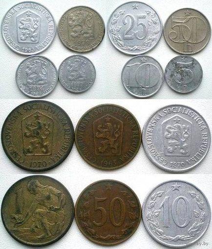 Чехословакия, 7 монет (1963, 1970, 1974, 1977, 1979)