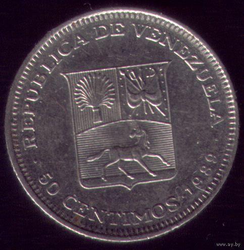 50 сентимов 1989 год Венесуэла
