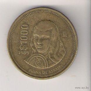 Мексика, 1000 pesos, 1989г