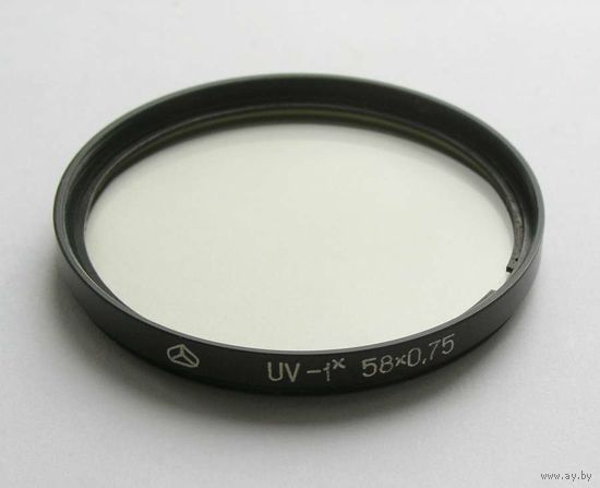 Светофильтр ультрофиолетовый  УФ-1х резьба 58х0,75