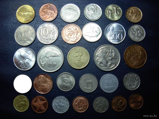 Коллекция - 30 монет ФАУНА БЕЗ ПОВТОРОВ !!!