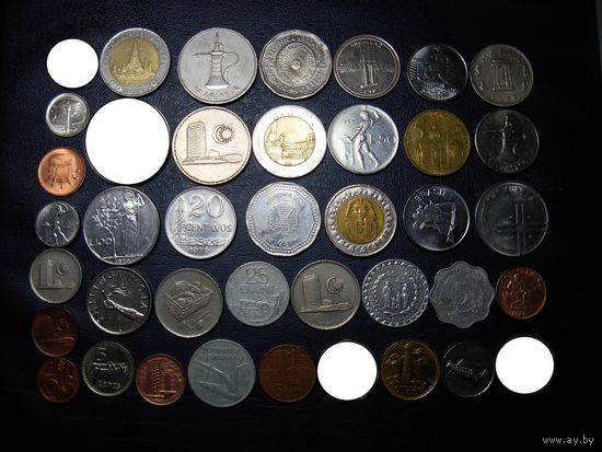 Коллекция - 40 ИНТЕРЕСНЫХ монет БЕЗ ПОВТОРОВ !!!