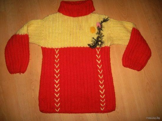 Теплый свитер 10-12 лет