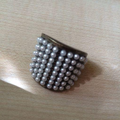Bershka (Zara) кольцо с жемчужинками, размер М