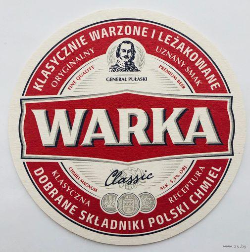 Подставка под пиво Warka /Польша/