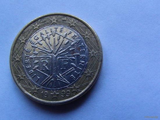 Франция 1 евро 1999г.  распродажа