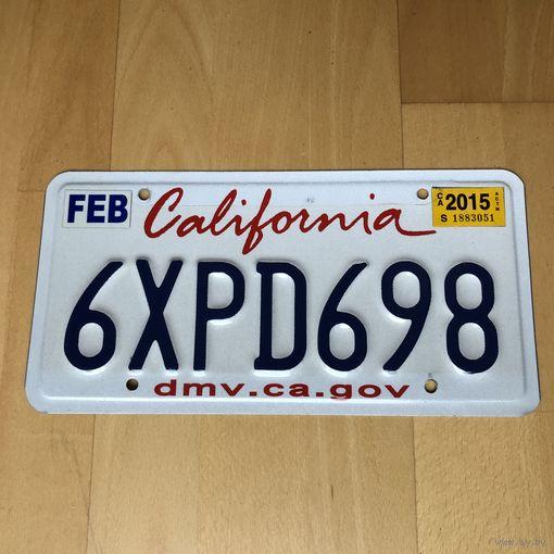 Автомобильный номер США Калифорния