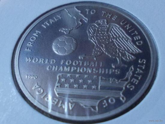 Афганистан 100 афганей 1990.Чемпионат мира по футболу.редкая.