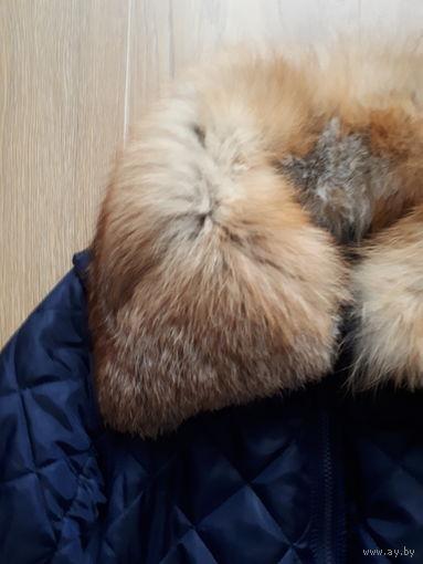 Курточка с мехом лисы