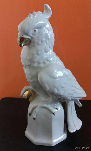 Статуэтка фарфоровая Какаду (Попугай) 28 см. Германия, 50-е г.г.