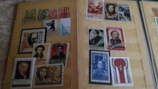 ПОЧТОВЫЕ МАРКИ СССР.КУБЫ. И Т.Д.И Т.П.ОДНИМ ЛОТОМ