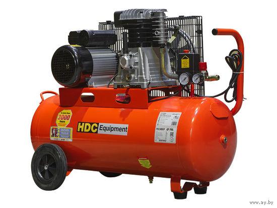 Компрессор HDC HD-A071 (396 л/мин, 10 атм, поршневой, масляный, ресив. 70 л, 220 В, 2.20 кВт)