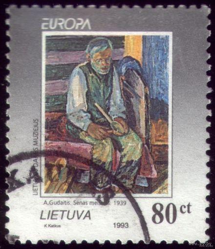1 марка 1993 год Литва Живопись