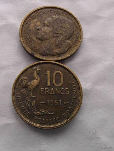 10 франков 1951 Франция.  распродажа