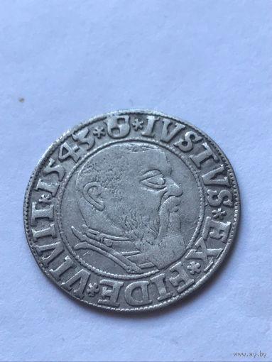 Грош 1543г. Пруссия