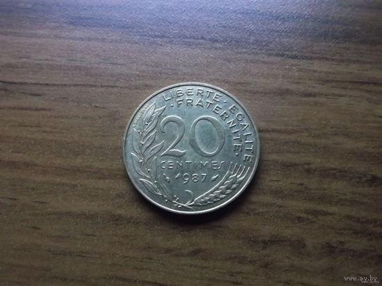 Франция 20 сантим 1987
