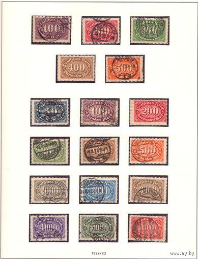 Германия Цифры в овале 2 серии ГАШ 1922-1923 гг