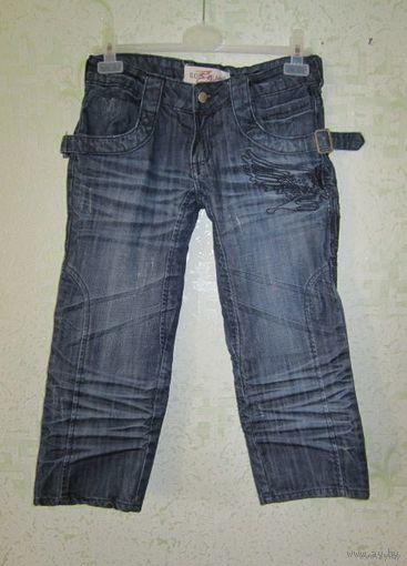 Капри джинсовые, р.44