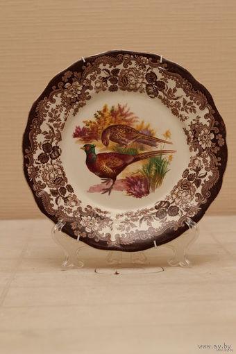 Тарелка настенная декоративная Англия ,фарфор ,диам.-25 см.