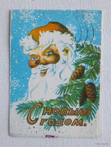 Пинская с новым годом 1979   10х15 см открытка БССР
