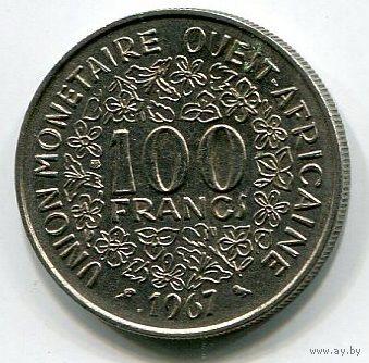 ЗАПАДНАЯ АФРИКА - 100 ФРАНКОВ 1967