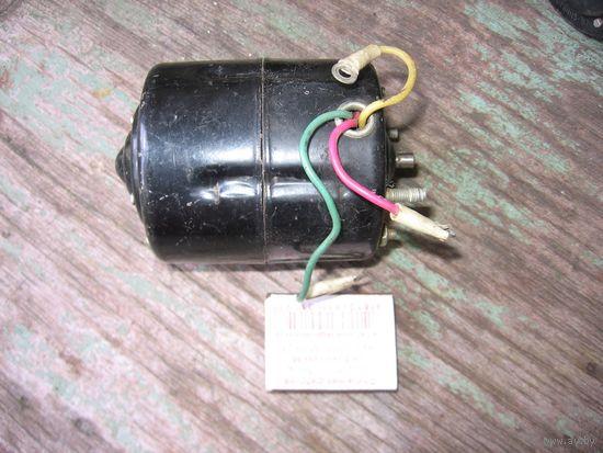 ЛотNo3== двигатель (электродвигатель) постоянного тока МЭ14А: 12В 15Вт, 1500об\мин (автомобильный)