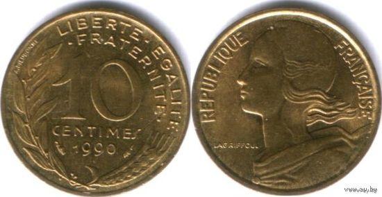 Франция 10 сантимов 1990г. распродажа
