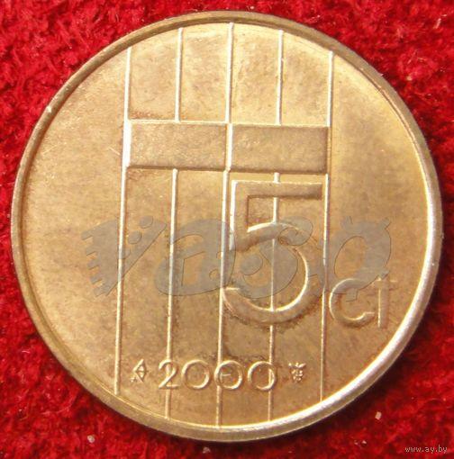 7639:  5 центов 2000 Нидерланды