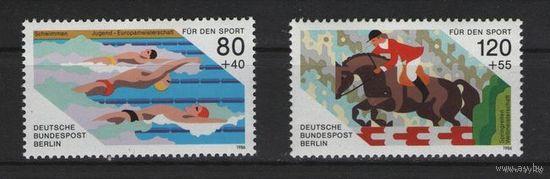 Западный Берлин 1986 г. Mi N 751-752** Спорт