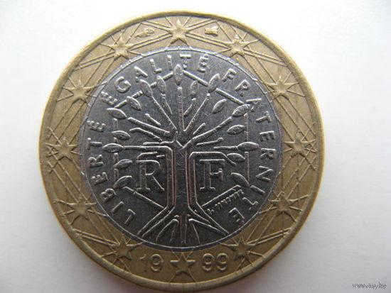 Франция 1 евро 1999г.   Распродажа!!!