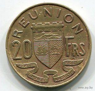 РЕЮНЬОН - 20 ФРАНКОВ 1955