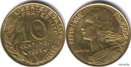 Франция 10 сантимов 1995г. распродажа