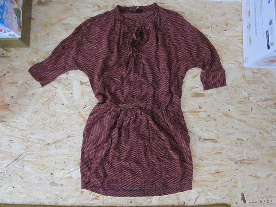 Брендовое платье-туника Maje из натурального шелка, M. Новое, с дефектом.
