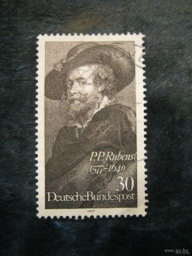 Марка ФРГ. Рубенс. 1977 (высокая марка)