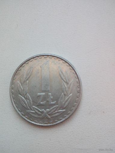 1 злотый 1988г. Польша