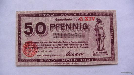 Германия Нотгельд 50 пфенинг 1921г No105276 распродажа