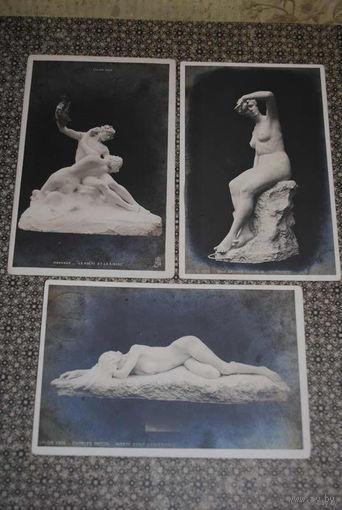 """Сборная серия старинных открыток, по теме: """"Paris-Salon-Serie/1903-1905/гг."""" - моя коллекция до 1917 года - антикварная редкость - цена за всё, что на фото, по отдельности пока не продаю-!"""
