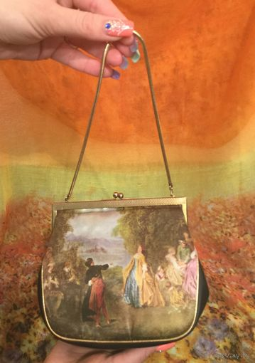Сумочка винтжаная ( театральная сумка) Пастораль. Атлас, ХХ век
