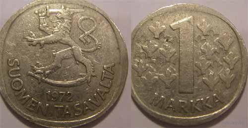 Финляндия. 1 марка 1987г.  распродажа