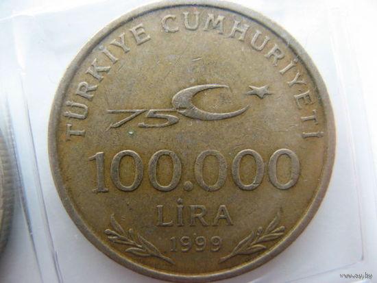 Турция 100 000 лир 1999 г.