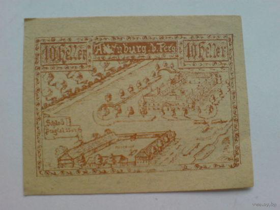 Австрия 10 геллер 1920г.  Аттинбург   распродажа
