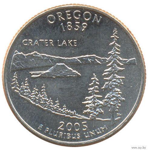 США 25 центов 2005 год Орегон D   распродажа